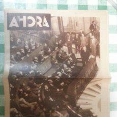 Militaria: DIARIO AHORA, DIARIO DE LA JUVENTUD JSU MADRID 22 DE ABRIL DE 1937. Lote 47611947