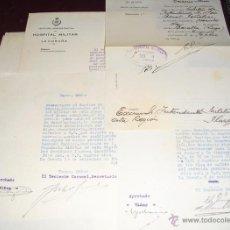 Militaria: 1930 CUATRO DOCUMENTOS SOBRE PERMISO POR ASUNTOS PROPIOS DE CAPITAN. Lote 47771976