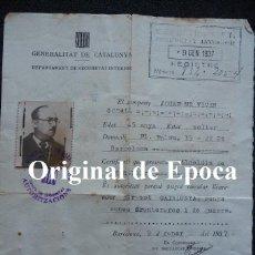 Militaria: (JX-2140)SALVO CONDUCTO D.JOSE Mª.VIVES,GUERRA CIVIL,POSTERIORMENTE CAPELLAN DE LA DIVISION AZUL. Lote 48002740