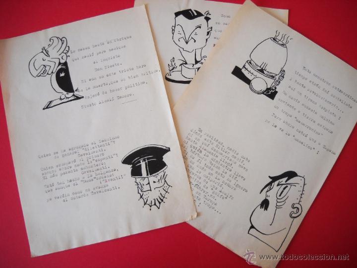 GUERRA CIVIL - CARICATURAS - DIBUJOS ORIGINALES (Militar - Propaganda y Documentos)