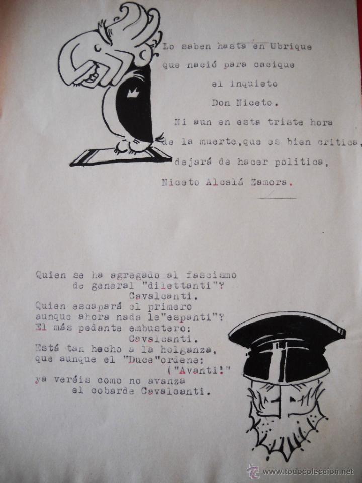 Militaria: GUERRA CIVIL - CARICATURAS - DIBUJOS ORIGINALES - Foto 3 - 48193235