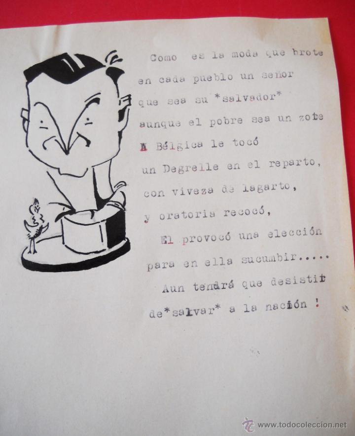 Militaria: GUERRA CIVIL - CARICATURAS - DIBUJOS ORIGINALES - Foto 5 - 48193235