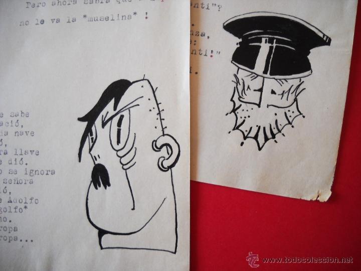 Militaria: GUERRA CIVIL - CARICATURAS - DIBUJOS ORIGINALES - Foto 8 - 48193235