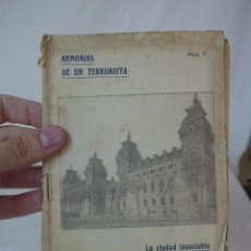 Militaria: LIBRITO MEMORIAS DE UN TERRORISTA, NUM 9, CNT. Lote 48490922