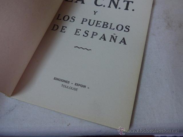 Militaria: Librito La CNT y los pueblos de españa, hecho en exilio. - Foto 2 - 48492127