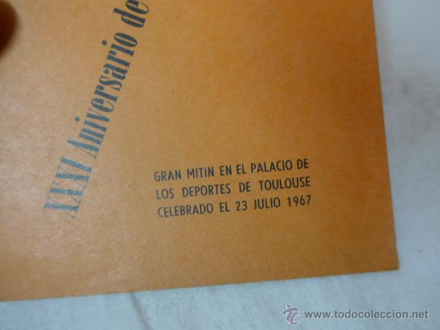 Militaria: Librito XXXI aniversario revolucion española. CNT, hecho en exilio, Francia 1967 - Foto 2 - 48492154