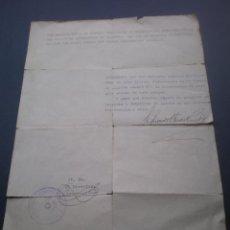 Militaria: SALVO CONDUCTO O CERTIFICADO DE ABASTECIMIENTO DE PAJA O PIENSO, GUERRA CIVIL, 1936, VALENCIA. Lote 48560223