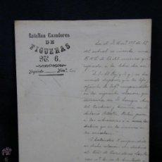 Militaria: BATALLÓN CAZADORES DE FIGUERAS Nº6 DESTINO BATALLÓN CAZADORES LAS NAVAS 1905 23X16,5CMS. Lote 48628164