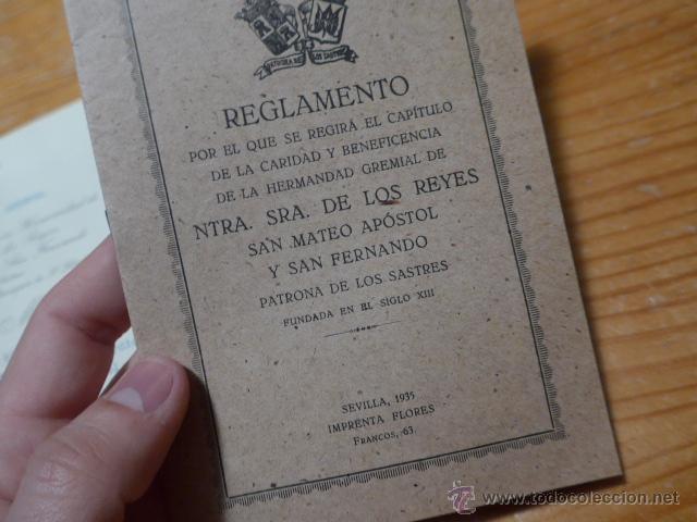 Militaria: Lote documentos hermandad nuestra señora de los reyes - Foto 2 - 48680042