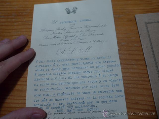 Militaria: Lote documentos hermandad nuestra señora de los reyes - Foto 3 - 48680042