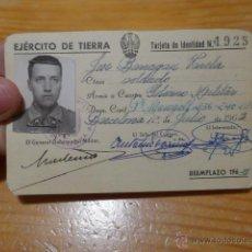 Militaria: ANTIGUO CARNET DE EJERCITO DE TIERRA, AÑOS 60. Lote 48680203