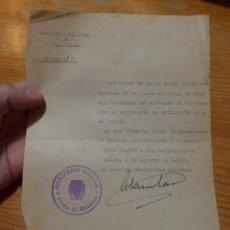 Militaria: ANTIGUO DOCUMENTO DE GOBIERNO MILITAR DE PALMA DE MALLORCA, 1940. Lote 48680343