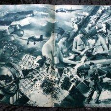 Militaria: 1940 - FEUERTAUFE - PELICULA BAUTISMO DE FUEGO LUFTWAFFE EN POLONIA - PROGRAMA 29X22CM. Lote 48738784