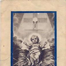 Militaria: SEVILLA,1939, RECUERDO CUMPLIMIENTO PASCUAL DEL HOSPITAL LEGIONARIO, VER SCANS. Lote 49070085
