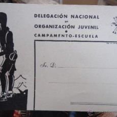Militaria: MILITAR ----- DELEGACION NACIONAL DE ORGANIZACION JUVENIL CAMPAMENTO ESCUELA , IMP AFRODISIO AGUADO . Lote 49361398