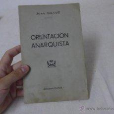 Militaria: LIBRITO ORIENTACION ANARQUISTA. CNT, HECHO EN EXILIO. Lote 49565388