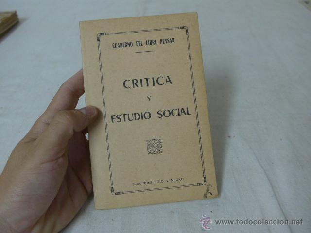 LIBRITO CRITICA Y ESTUDIO SOCIAL. CNT, HECHO EN EXILIO (Militar - Propaganda y Documentos)