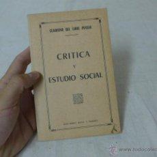 Militaria: LIBRITO CRITICA Y ESTUDIO SOCIAL. CNT, HECHO EN EXILIO. Lote 49565406