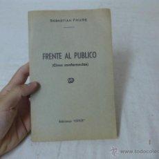Militaria: LIBRITO FRENTE AL PUBLICO, 5 CONFERENCIAS, CNT EXILIO. Lote 49566020
