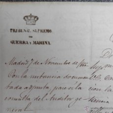 Militaria: 1866 - INSTRUCCIÓN JUDICIAL SOBRE MATRIMONIO NO AUTORIZADO DE TENIENTE EN FILIPINAS.. Lote 49587877