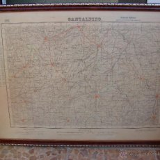 Militaria: MAPA MILITAR DE CANTALPINO. SALAMANCA 1948. Lote 49642815
