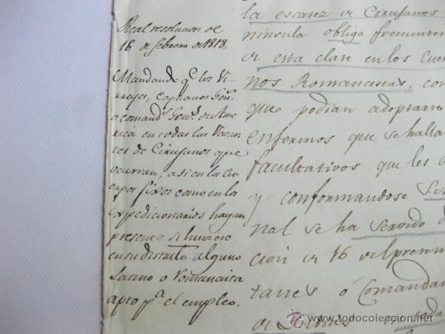 Militaria: MANDANDO A LOS VIRREYES, CAPITANIAS O COMANDANCIAS DE AMERICA COMIQUEN VACANTES DE MEDICOS. 1818 - Foto 2 - 49965966