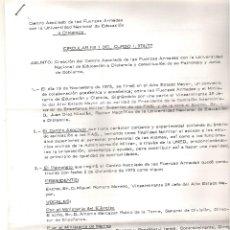 Militaria: ANTIGUA CARTA AÑOS 1976 -CIRCULAR FUERZAS ARMADAS PARA EL CURSO 76-77 DE VARIOS FOLIOS INCLUYE SOBRE. Lote 50059574
