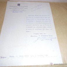 Militaria: GUERRA CIVIL - GENERALITAT DE CATALUNYA DEPARTAMENT DE FINANCES 2 SEPT. 1938 -MOROSIDAD . . Lote 50121949