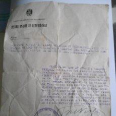 Military - ANTIGUO DOCUMENTO MILITAR - CUERPO DE EJERCITO DEL MAESTRAZGO - DECIMA UNIDAD DE VETERINARIA - 50169271
