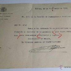 Militaria - junta defensa de bizkaya guerra civil euzkadi comunicaciones - 50171798