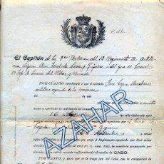 Militaria: VICALVARO, 1923, NOMBRAMIENTO CABO 12ª REGIMIENTO ARTILLERIA LIGERA. Lote 50610017