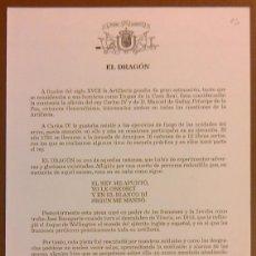 Militaria: EL DRAGÓN. CAÑÓN. MUSEO DEL EJÉRCITO ESPAÑA. CUARTILLA. AÑOS 60. NUEVO!. Lote 50669166