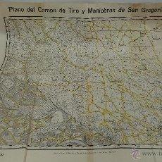 Militaria: PLANO DEL CAMPO DE TIRO Y MANIOBRAS DE SAN GREGORIO. ESCALA 1:20000. Lote 50771921
