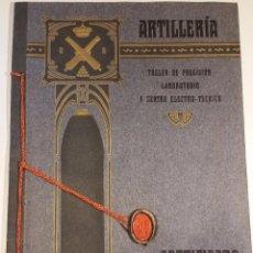 Militaria: 1908 CERTIFICADO DEL TALLER DE PRECISIÓN Y LABORATORIO DE ARTILLERÍA. Lote 58826526
