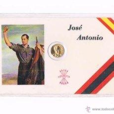 Militaria: CARNET JOSÉ ANTONIO PRIMO RIVERA FALANGE ESPAÑOLA INCLUYE MEDALLA ANTIGUO. Lote 50997129