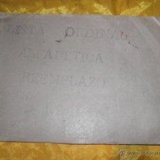 Militaria: LISTA ORDINAL ALFABETICA REEMPLAZO 1946 *. Lote 51031830