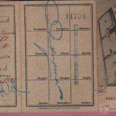 Militaria: CARTILLA FASCIO DI COMBATTIMIENTO - TARANTO 1937 - IL FACISTA PRIETO - ITALIA. Lote 51220869