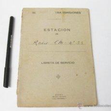 Militaria: LIBRO DE REGISTRO DEL SERVICIO DE TRANSMISIONES. ESTACIÓN RADIO CM-33. MELILLA, REGULARES. 1935-1936. Lote 51408455