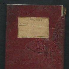 Militaria: LIBRETA EN PIEL DEL ......TERCIO DE LA GUARDIA CIVIL. 1914?.. Lote 51439711