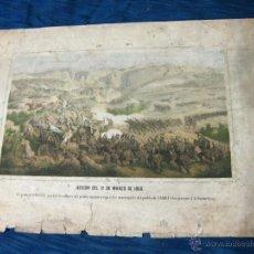 Militaria: EL GENERAL ECHAGUE EN UN ATAQUE A LOS MARROQUIES. GUERRA DE AFRICA. ACCION DEL 11 DE MARZO DE 1860. Lote 51500136