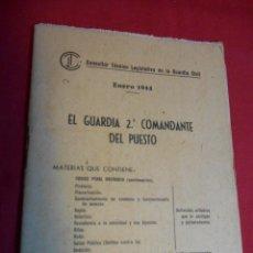 Militaria: CONSULTOR TECNICO LEGISLATIVO DE LA GUARDIA CIVIL - ENERO 1944 -. Lote 51550565