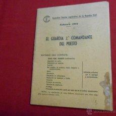 Militaria: CONSULTOR TECNICO LEGISLATIVO DE LA GUARDIA CIVIL - FEBRERO 1944 -. Lote 51550591