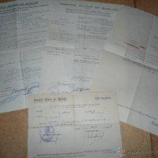Militaria: LOTE DOCUMENTOS ANTIGUOS HOSPITAL MILITAR BADAJOZ. Lote 51700005