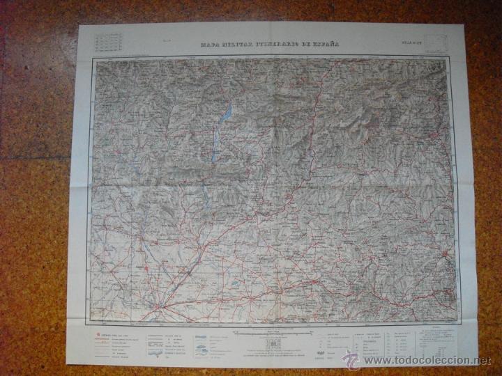 MAPA MILITAR ITINERARIO E 1:200000 HOJA Nº 28 LERIDA MANRESA BERGA BENABARRE (Militar - Propaganda y Documentos)