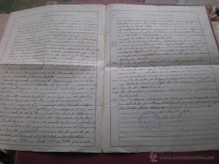 Militaria: DOCUMENTO MILITAR, LICENCIA ABSOLUTA, VALENCIA, 1909 - Foto 2 - 52318085