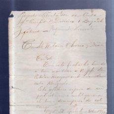 Militaria: EJERCITO LIBERTADOR DE CUBA. NOMBRAMIENTO DE JEFE DE ESTADO MAYOR. 1898. SANTI SPIRITUS.. Lote 52335999