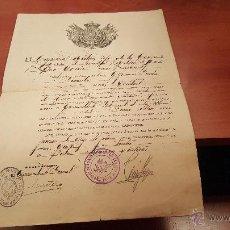 Militaria: DOCUMENTO MILITAR DE ASCENSO A SARGENTO, SANIDAD MILITAR, COMPAÑIA MIXTA DE CEUTA 1923. Lote 52520674