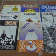 Militaria: LOTE EXTREMA IZQUIERDA, TRANSICION. 9 REVISTA ANTIMILITARISTA, ANTINUCLEAR, ANARQUISTA CNT, 70S 80S. Lote 52534514