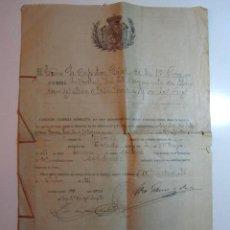 Militaria: CONCEDO LICENCIA ABSOLUTA MADRID 1921 - 1940 TRES PÁGINAS. Lote 52541845
