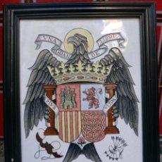 Militaria: AZULEJO ESCUDO CERAMICA GRANDE , ESPAÑA, AGUILA IMPERIAL, JUAN BAUTISTA MOLINS ,VALENCIA. Lote 52578463